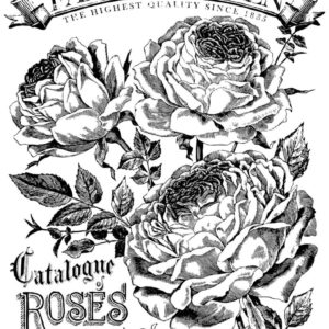 CATALOGUE OF ROSES 24×33 PAINTABLE™ DECOR TRANSFER™